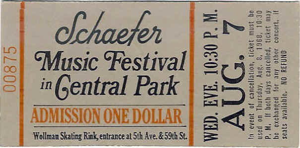 Who Ticket August 7, 1968
