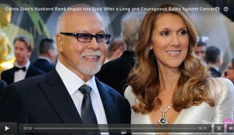 Céline Dion's Husband René Angélil Has Died 'After a Long and Courageous Battle Against Cancer' 1