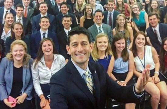 #GOPSoWhite: Paul Ryan's Selfie With Interns Goes Viral 33