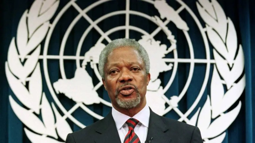 United Nations Former secretary-general Kofi Annan died today