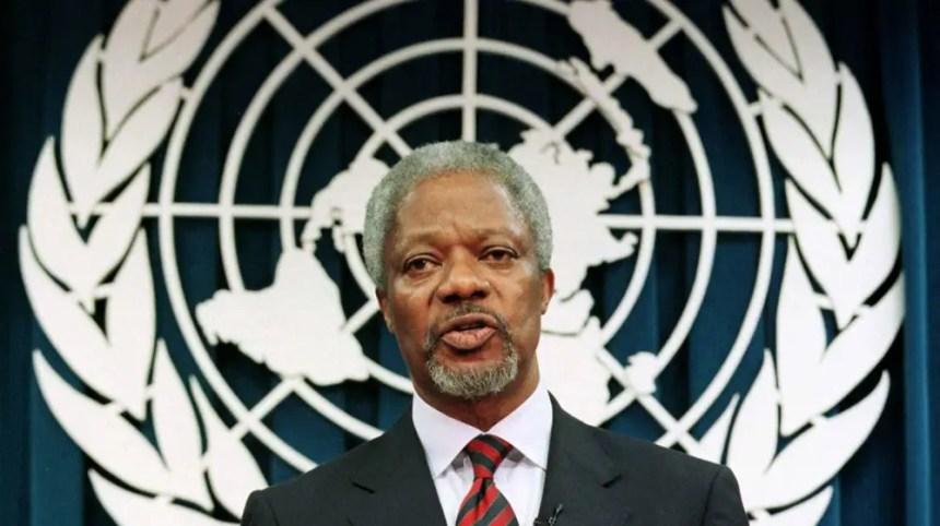 United Nations Former secretary-general Kofi Annan died today