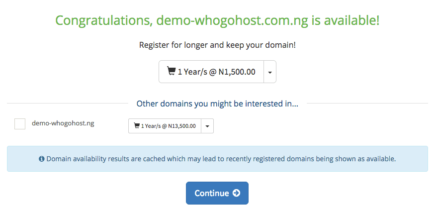 Select Other Domain Names