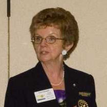 Joan Hayward, Past Rotary District 7070 Governor, District Chair for Literacy