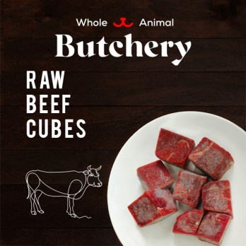 Grass-fed Beef Cubes (Frozen)