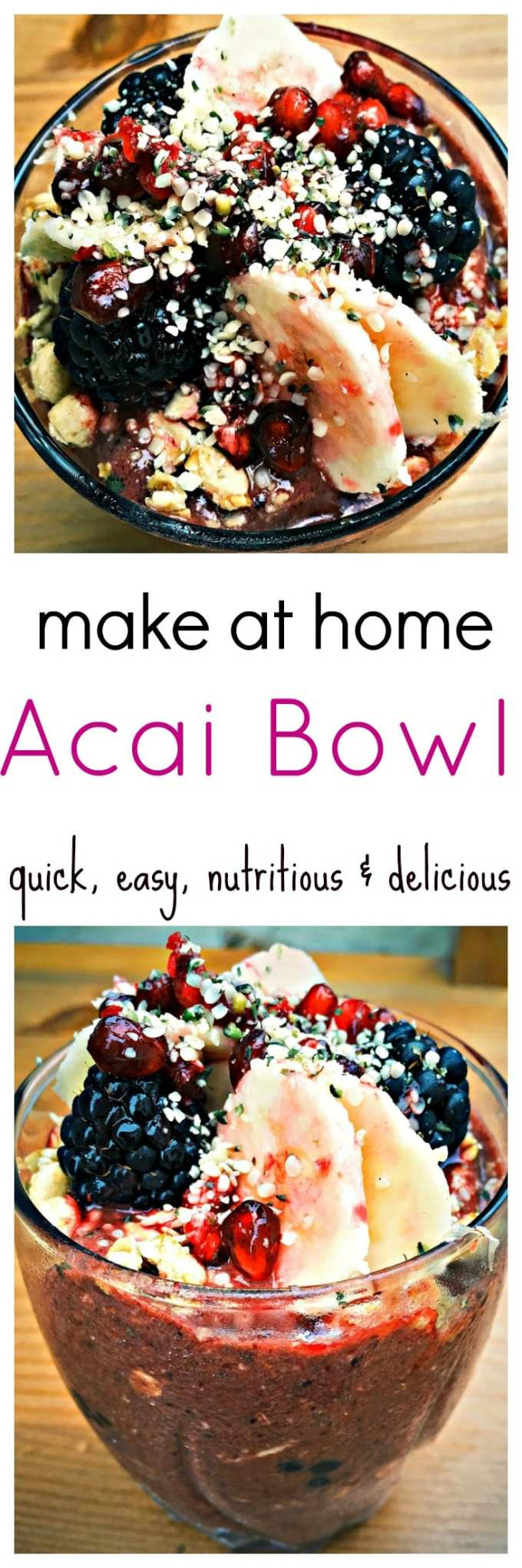 This little bowl of açaí superfood is a powerhouse of goodness. Great for a pick me up or just as a healthy snack to keep you going for the afternoon.