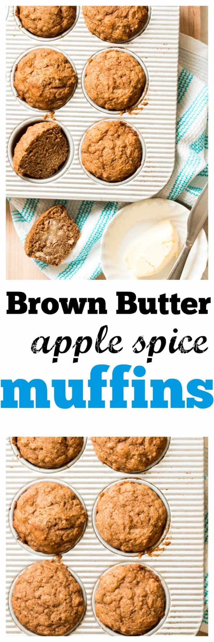 Brown Butter Apple Spice Muffins. Satisfy that sweet mid-afternoon craving naturally. Perfect for little lunch boxes and freezer friendly.