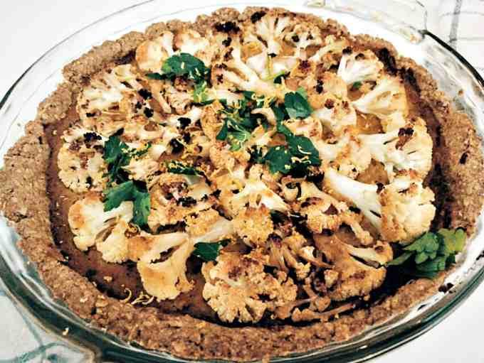 roasted cauliflower tart