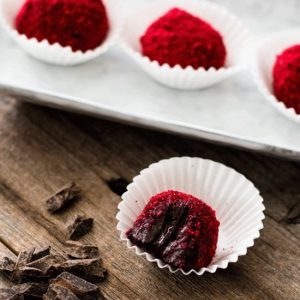 Chocolate Raspberry Truffles