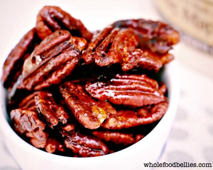 Maple Candied Pecans @wholefoodbellies.com
