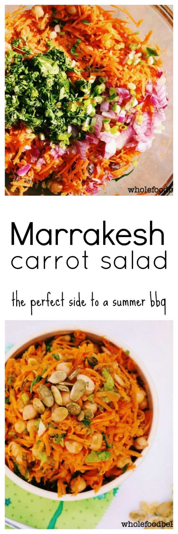 This Marrakesh Carrot Salad is a perfect quick and easy salad to bring along to your next summer potluck. Light, fresh and delicious.
