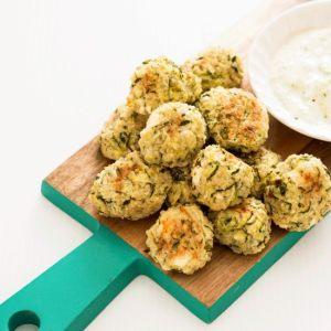 back to school snacks: Baked Zucchini, Feta and Quinoa Bites
