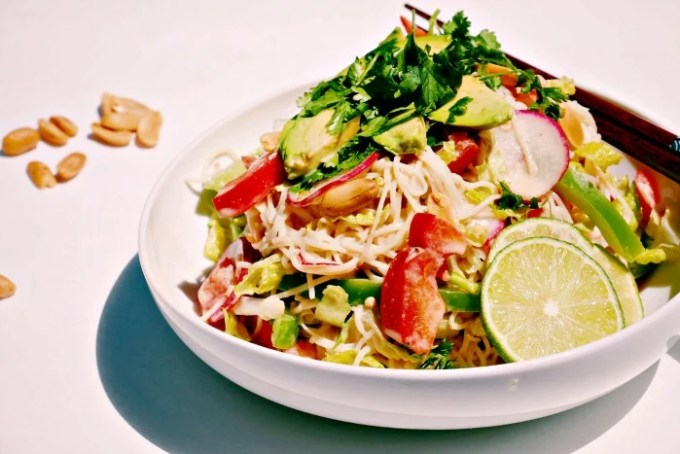 Quick Peanut Noodle Salad @wholefoodbellies.com