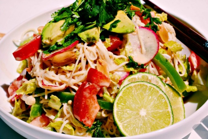 Quick Peanut Noodle Salad @wholefoodbellies.com