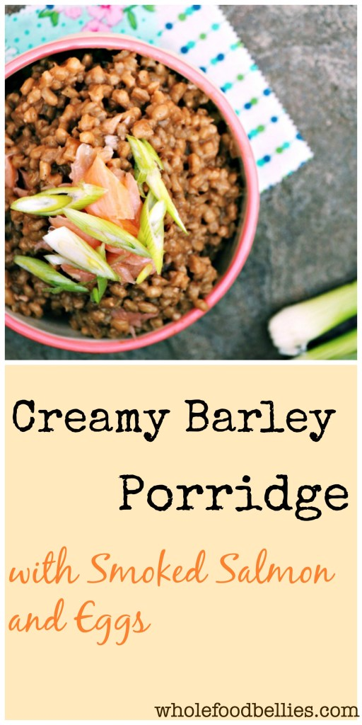 Creamy Barley Porridge with Smoked Salmon