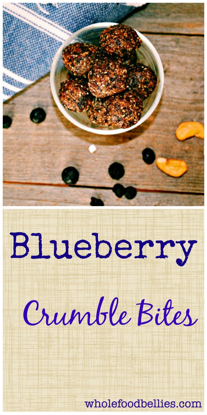 These little Blueberry Crumble Bites are packed with flavor and provide all the energy you need in an afternoon pick-me-up snack, with only the good stuff added!