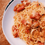 Vegan Tomato Cream Sauce and Spaghetti