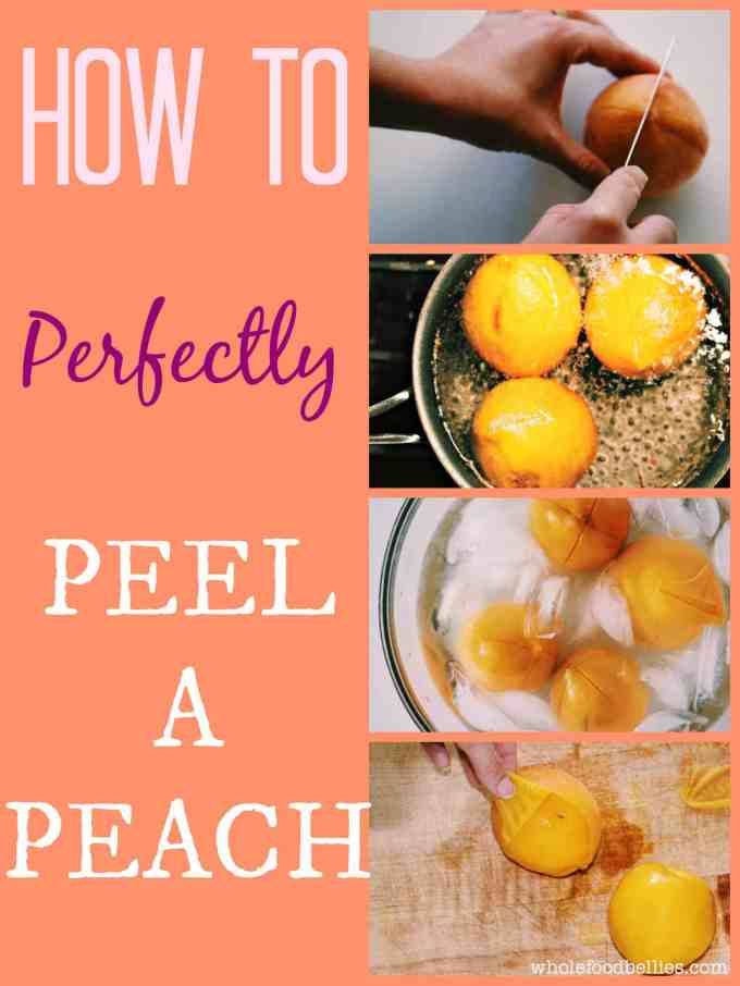 If you have ever wondered how to peel a peach then look no further. Here is a quick and easy tutorial that makes light work of the task