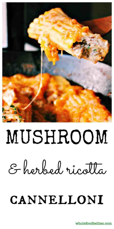 Mushroom and Herbed Ricotta Pinnable