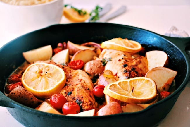 Lemon Garlic Butter Chicken Bake with Smokey Paprika