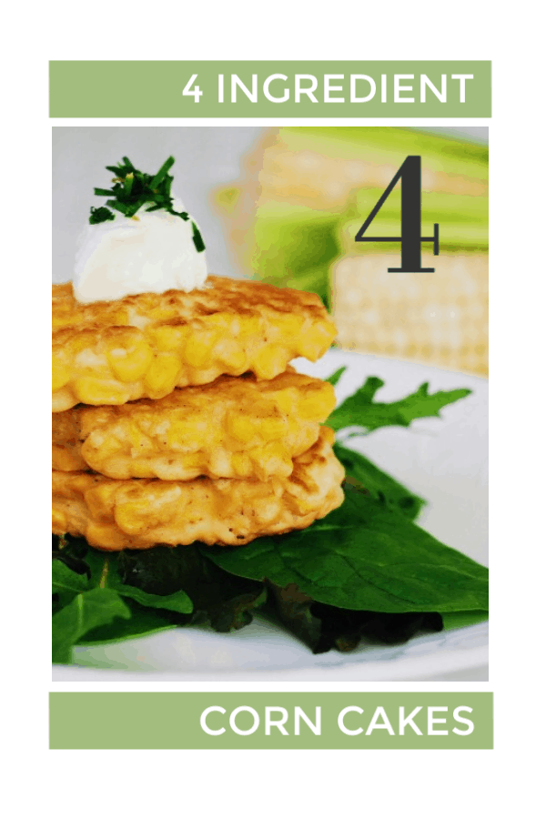 This Corn Cakes recipe has quickly become one of our go-to snack and easy dinner recipes. They come together so quickly, use only 4 ingredients and fill up little bellies fast. Enjoy them as is, with some tomato ketchup or sour cream, or dress them up with some creme fraîche, chives and smoked salmon.