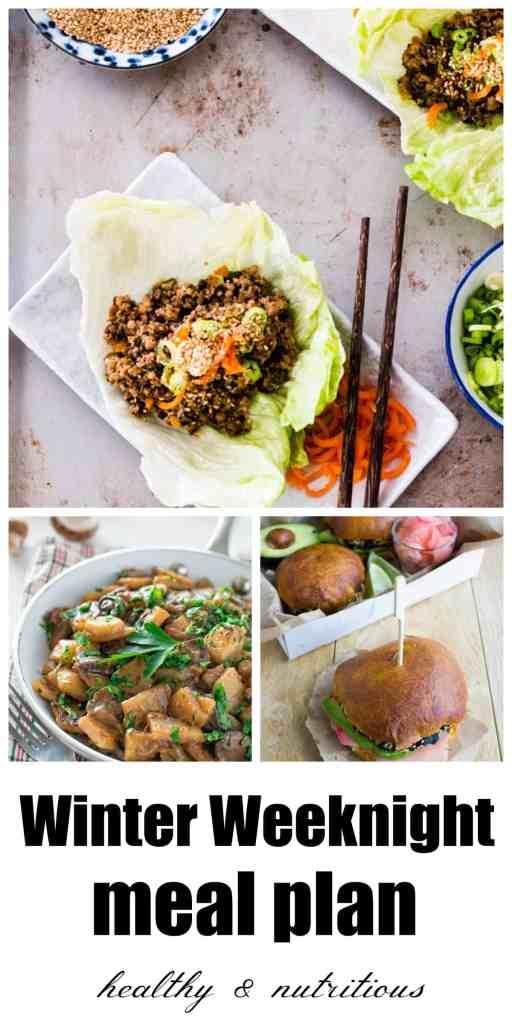 winter weeknight meal plan
