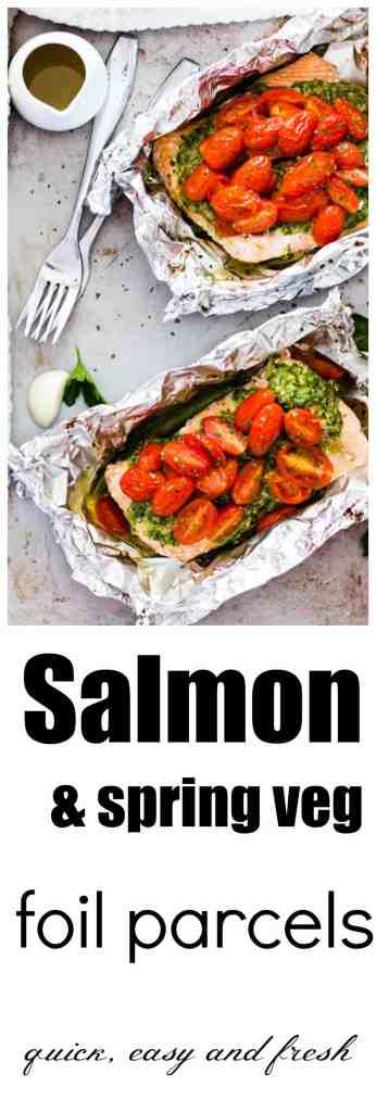 Salsa Verde Baked Salmon in Foil
