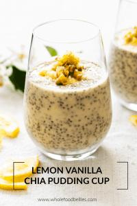 Lemon Vanilla Chia Pudding Cup