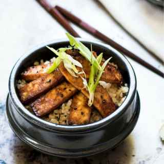 Truly Crispy Lemongrass and Ginger Tofu