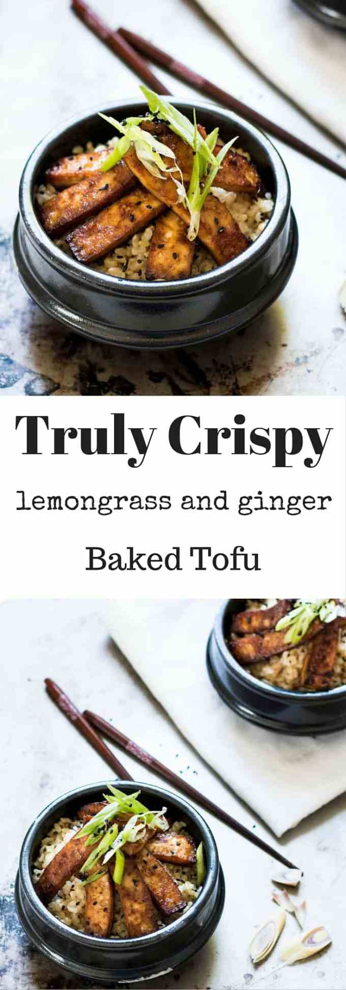 A truly easy way to make firm and crispy Baked Lemongrass and Ginger Tofu. Baked and not fried, for a delicious yet healthy tofu experience.