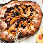 No Fuss Blueberry and Peach Galette Recipe