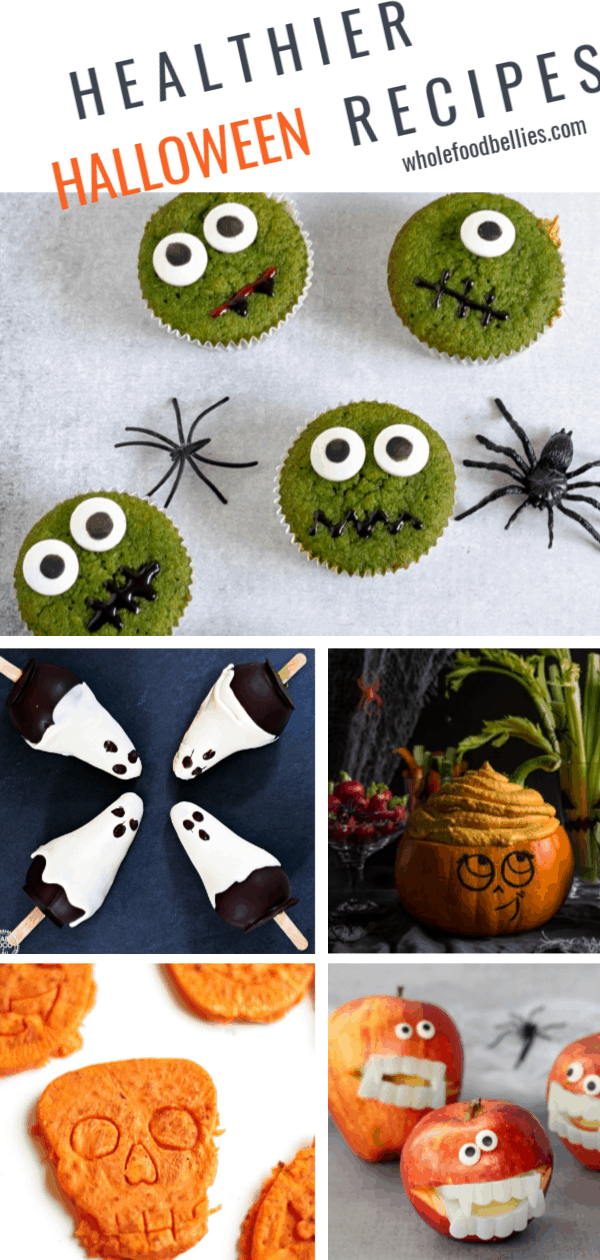Plan onwhipping up all kinds of Healthy Halloween treats for the kids; no refined sugar or food coloring required. My favorite healthier Halloween alternatives to get you in the mood. #halloween #halloweenrecipes #healthyhalloween #cleanhalloween