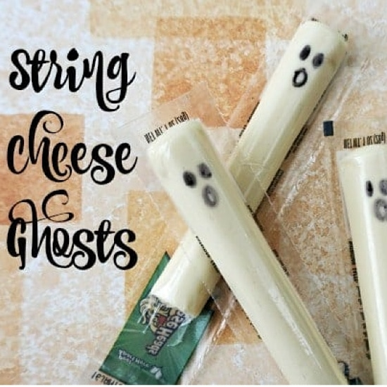 Healthy Halloween Treats: String cheese ghosts
