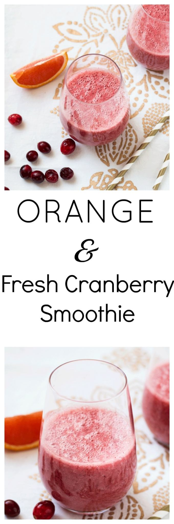 Rejuvenating Orange and Fresh Cranberry Smoothie. A quick, easy and delicious way to rejuvenate and heal your body. Packed with antioxidants