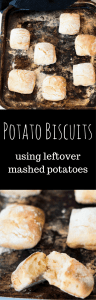 Potato Biscuits using Leftover Mashed Potatoes. Light and fluffy pillows of deliciousness are the perfect way to use up leftover mash