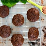 Cacao spinach muffins