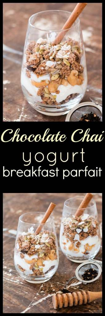 Chocolate Chai Yogurt Breakfast Parfait