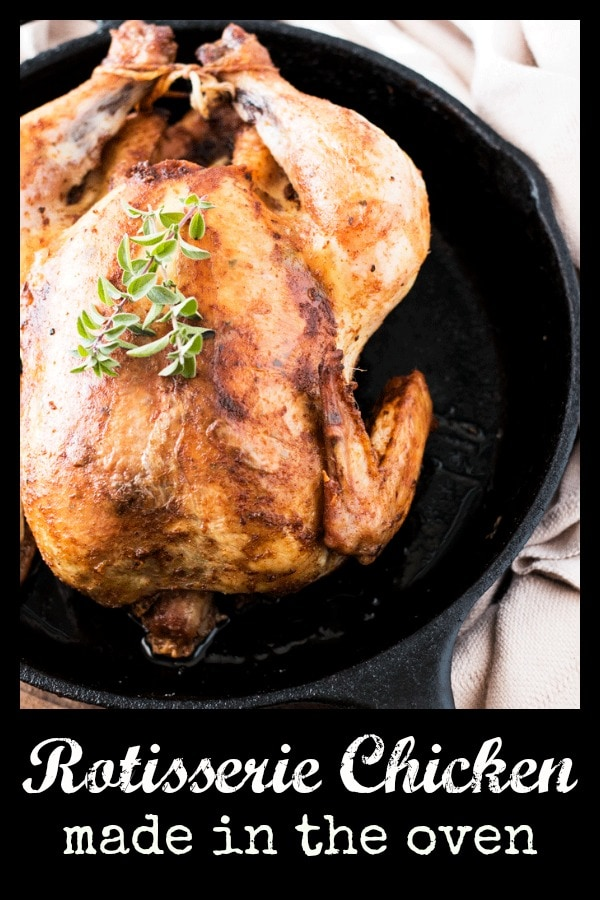 Homemade Rotisserie Style Chicken. The absolute perfect alternative to store bought rotisserie chickens. This homemade version is delicious and healthy