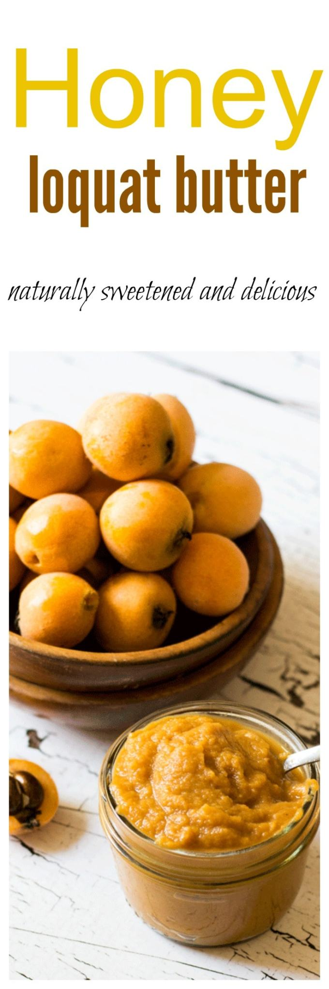 Indulge in natures unusual bounty with this naturally sweetened Honey Loquat Butter, which is just begging to be spread on some fresh crusty bread or used as a sweetener in baked goods.