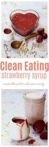 Homemade Strawberry Syrup Pinnable Image