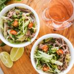 Instant Pot Lemongrass Beef Brisket Noodle Soup Salad Bowl