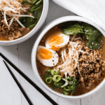 15 Minute Spicy Pork and Miso Noodle Soup