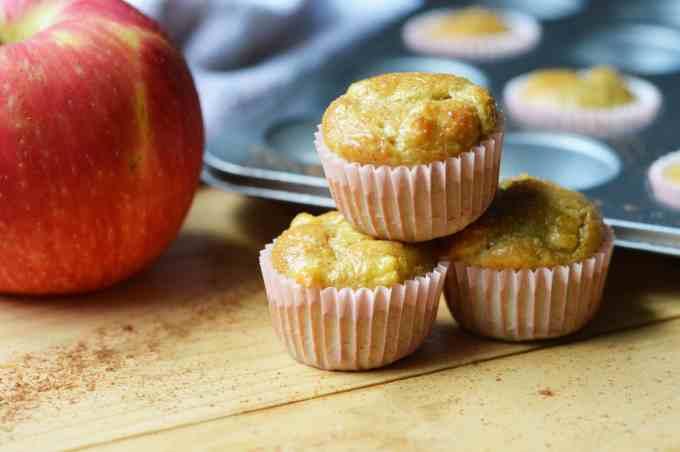 A stack of Apple Cinnamon Grain Free Muffin