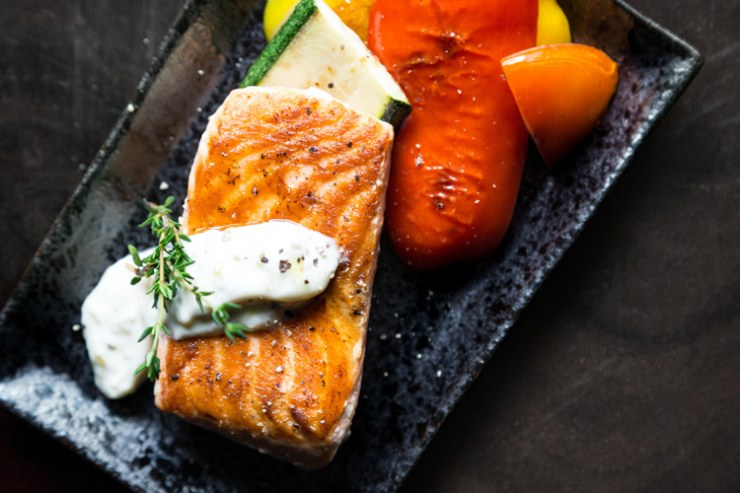 Grilled salmon: a good source of healthy unsaturated fats   Photo: Malidate Van/Creative Commons