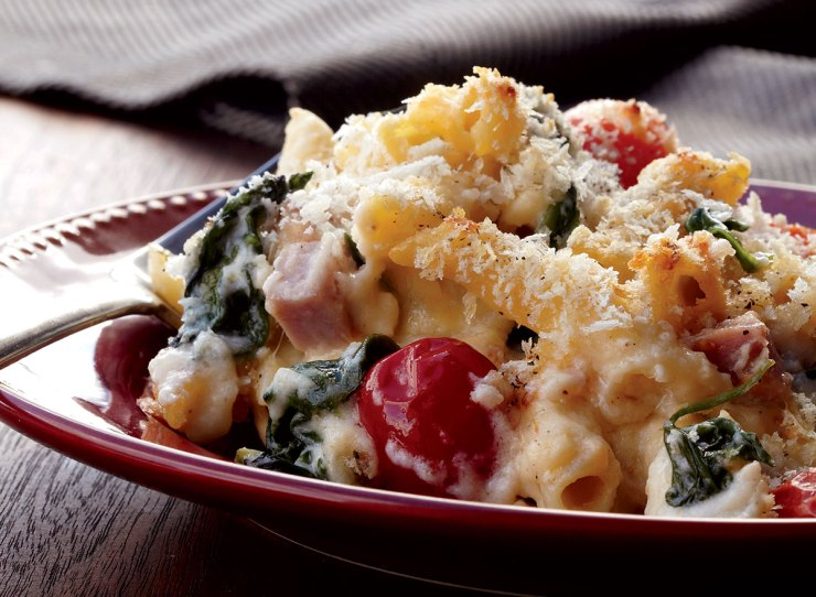 Healthy spinach ham and cheese