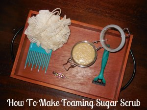 How To Make Amazing Foaming Sugar Scrub