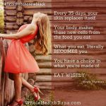 What you eat is what you become Eat wisely andhellip