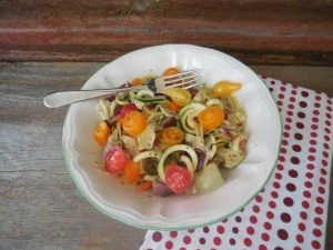 No Pasta Italian Salad ~ Raw, Vegan & Paleo