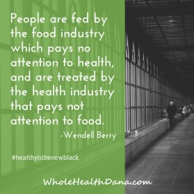 People are fed by the food industry