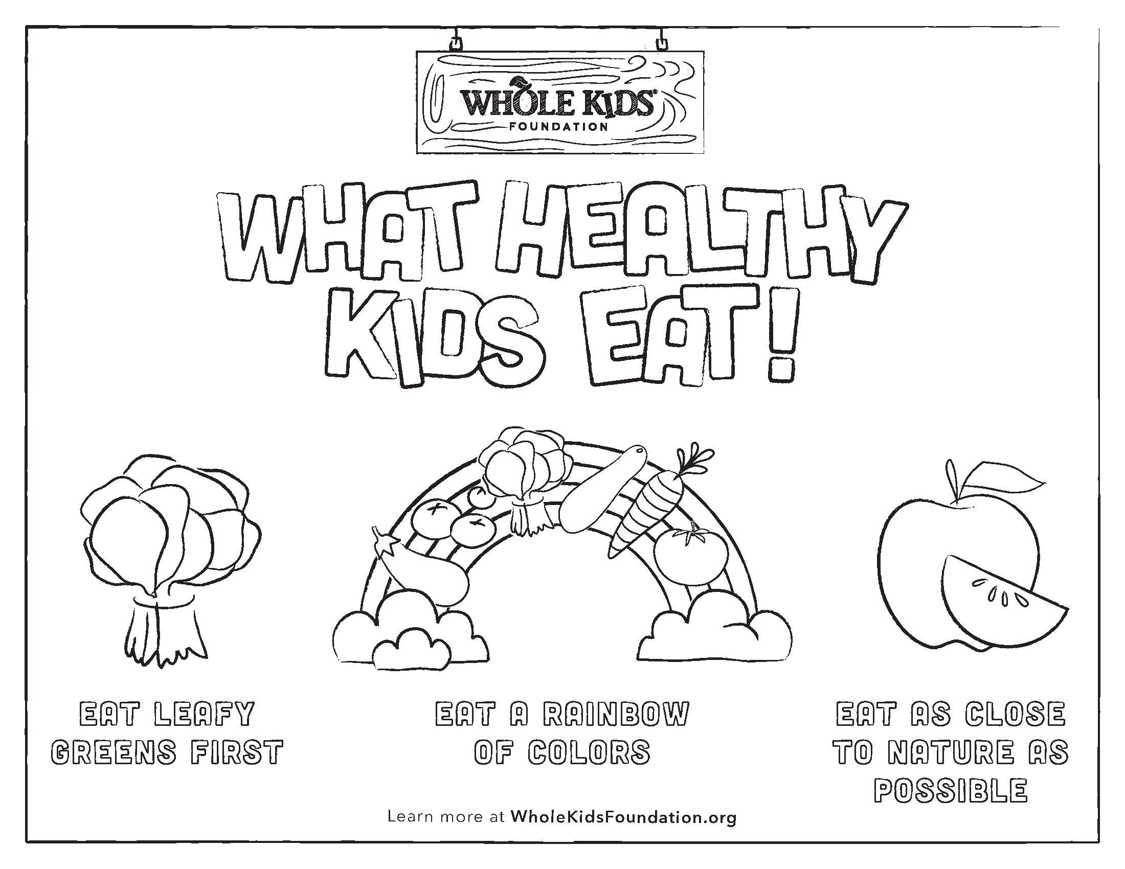 More Healthy Worksheet For Elementary