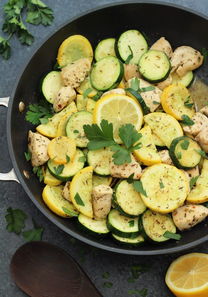 One pot Lemon Chicken and Squash